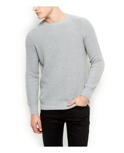 Grey Ribbed Jumper  | New Look