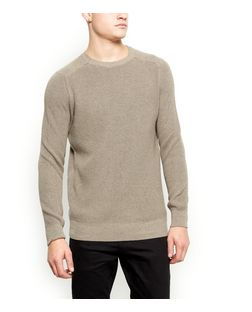Camel Ribbed Jumper  | New Look