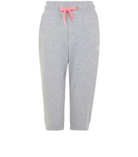 Only Grey Cropped Joggers  | New Look