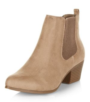 light brown suedette chelsea boots