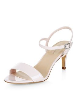 Pink Mid Heel Sandals  | New Look