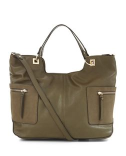 Khaki Soft Side Pocket Tote Bag | New Look