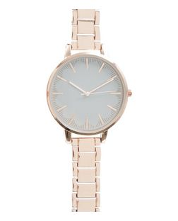 Rose Gold Scallop Detail Sports Watch | New Look