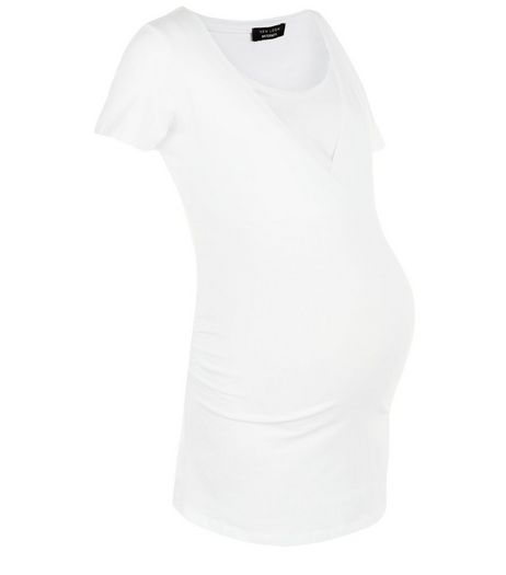Maternity White Nursing T-Shirt  | New Look