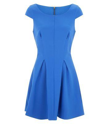 closet-blue-pleated-skater-dress