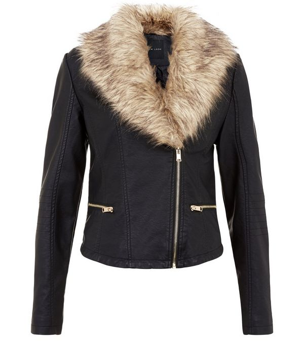 Black Leather Jacket With Fur | Outdoor Jacket