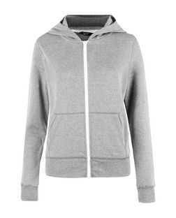Teens Grey Marl Zip Up Hoodie | New Look