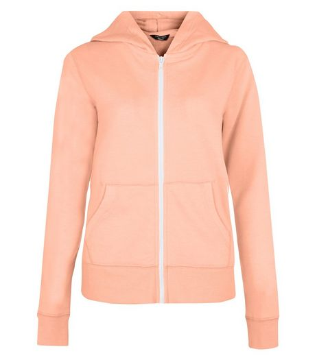 Teens Orange Marl Zip Up Hoodie  | New Look