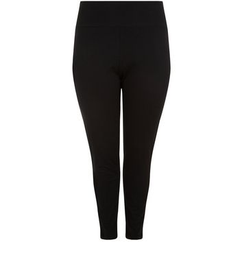 Curves Black High Waisted Leggings