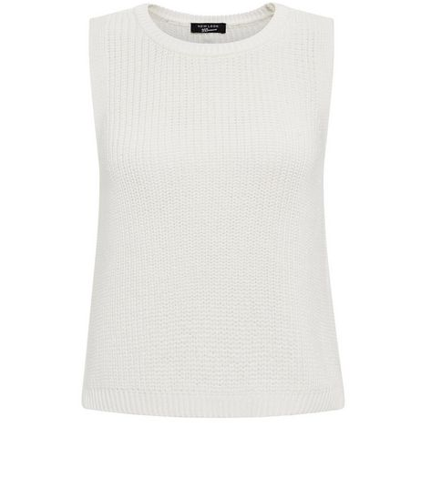 Teens Cream Fisherman Knit Vest  | New Look