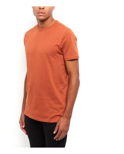 Orange Crew Neck T-Shirt  | New Look