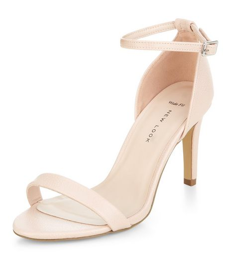 Wide Fit Nude Ankle Strap Heels  | New Look