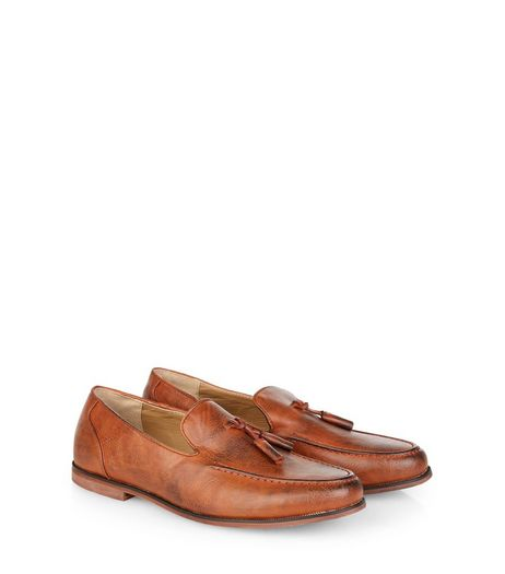 Tan Tassel Front Loafers  | New Look