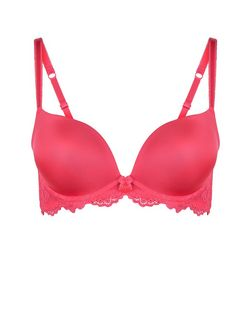 Pink Lace Push Up Bra | New Look