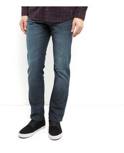 Dark Grey Coated Slim Fit Jeans  | New Look