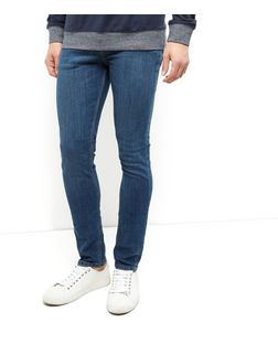 Blue Washed Skinny Jeans  | New Look