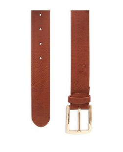 Tan Faux Leather Jeans Belt  | New Look