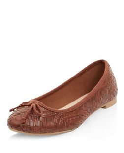 Tan Woven Ballet Pumps  | New Look