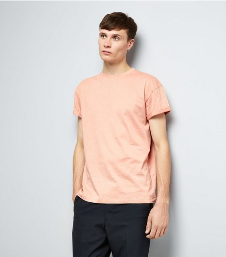 Pink Spray Wash T-Shirt | New Look
