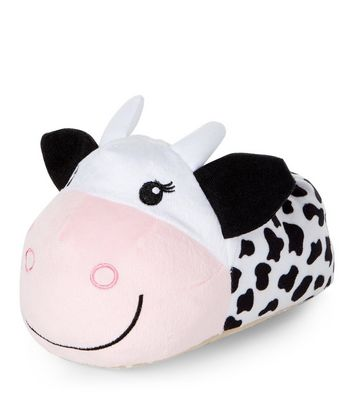 teens-white-cow-slippers