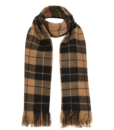 Camel and Black Check Scarf | New Look