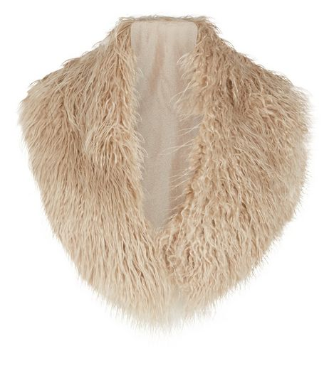 Stone Faux Fur Collar | New Look
