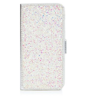 Silver Crystal Embellished iPhone 6 Purse