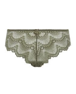 Khaki Lace Brazilian Briefs | New Look