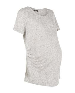 Maternity Grey Pocket Stud T-Shirt | New Look