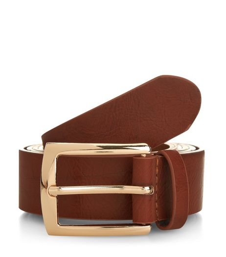 Curves Tan Jeans Belt  | New Look