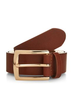 Plus Size Tan Jeans Belt  | New Look
