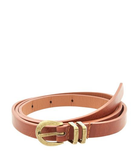 Curves Tan Double Loop Belt  | New Look