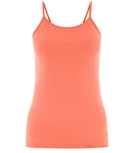 Only Orange Seamless Vest  | New Look