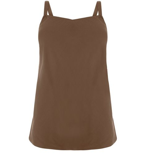 Curves Khaki Buckle Strap Cami | New Look