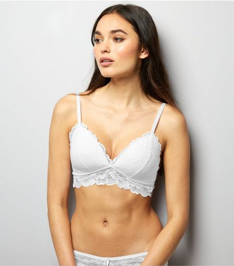 White Moulded Lace Bralet | New Look