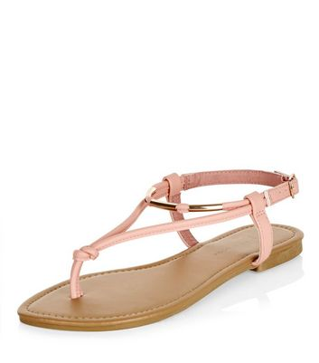 Sandalo  donna Wide Fit Coral Metal Knot Sandals