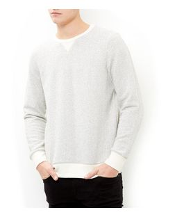 Stone Textured Knit Crew Neck Jumper  | New Look
