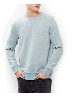 Light Blue Textured Knit Crew Neck Jumper  | New Look