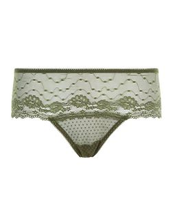 Khaki Lace Thong | New Look
