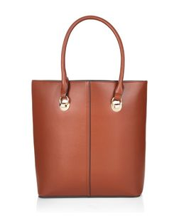 Tan Structured Shopper Bag  | New Look