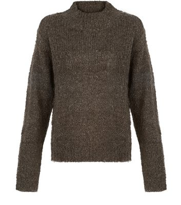 jdy-khaki-high-neck-knit-jumper