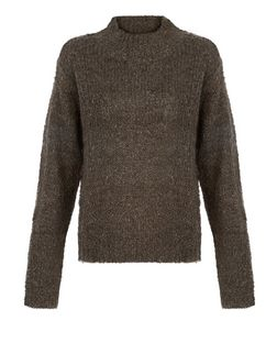 JDY Khaki High Neck Knit Jumper  | New Look