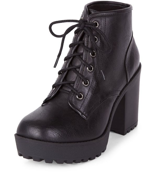 block heel lace up boots | Gommap Blog