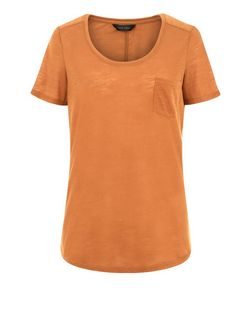 Tan Pocket Front T-Shirt  | New Look