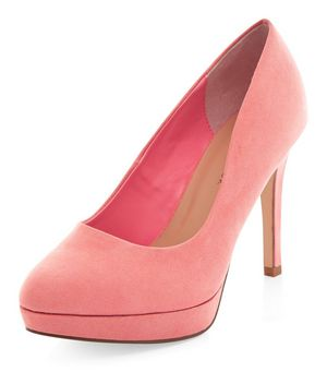 wide fit coral platform court shoes