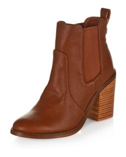 Tan Chunky Block Heel Chelsea Boots | New Look