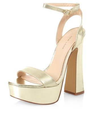 gold-leather-flared-heel-sandals