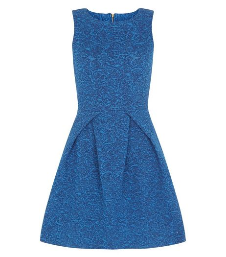 Closet Blue Denim Skater Dress | New Look