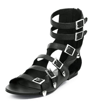 black-leather-multi-strap-sandals