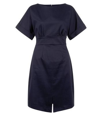 closet-navy-split-front-dress